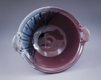 Handmade  Pottery Stoneware Bowl Purple and Blue  by Mark Hudak