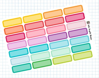 Small boxes - Planner Stickers - Basics Collection
