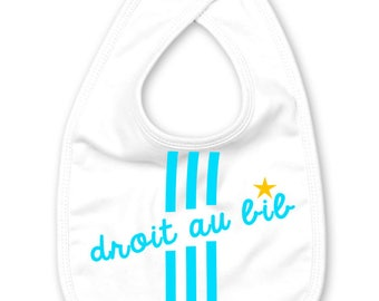 Marseilles white and blue football baby bib original