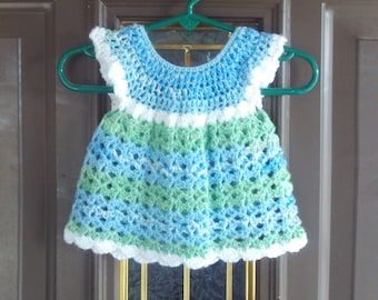 Newborn,Dress,Girls,Baby,Infants,Photos,Gift,Crocheted,Green,Blue,White,Wardrobe,Clothing