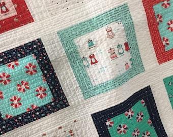 Baby quilt handmade girl