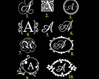 Personalized Monogram Sticker Single Initial Monogram Decal Name Inital Decal Monogram Vinyl Decal Monogram car Decal Custom Monogram