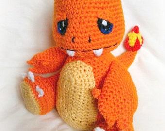 Pokémon Inspired  Charmander Poképal ; CROCHET PATTERN; PDF