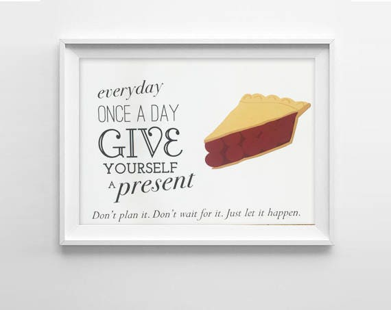 Twin Peaks Pie Quote: Twin Peaks Art Print Cherry Pie