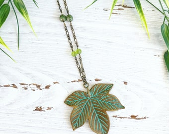 Leaf Necklace/Nature Necklace/Maple Leaf Necklace/Rustic Jewelry/Woodland Jewelry/Earthy Jewelry/Leaf Pendant/Nature Lover/Nature Inspired