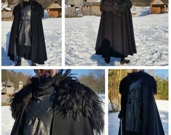 Night's Watch cloak - Game of Thrones, Jon Snow inspired Watcher on the Wall Cloak