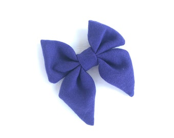 Purple sailor hair bow - sailor bows, hair bows, girls hair bows, girls bows, toddler hair bows, baby hair bows, fabric hair bows, bows