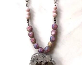 Quartz & Swarovski Crystal Necklace