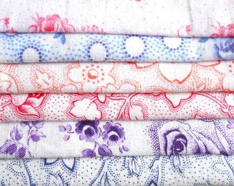 fabric bundle vintage floral fabric patchwork fabric quilting fabric french fabric french floral fabric bundle french vintage