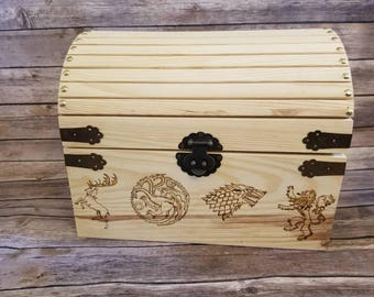 Game of Thrones - Inspired woodburned chest