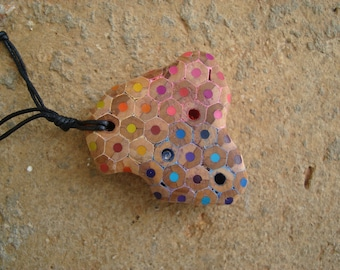 Coloured pencils - Necklace, Pencil, Swarovski crystal
