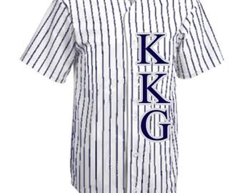 Kappa Kappa Gamma Letters Baseball Jersey