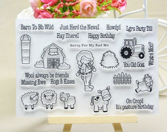 Farm Animals Clear Stamp Set