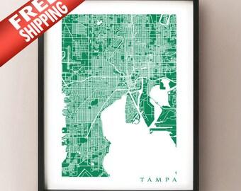 Tampa Map Print