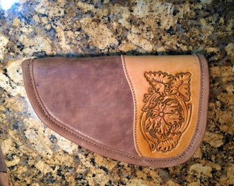Hand Tooled Leather Pistol Case
