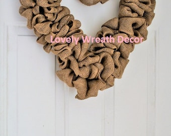 Valentines  wreath ,DIY Burlap wreath, Heart Wreath, Wedding Wreath, Love Wreath,  Wreath
