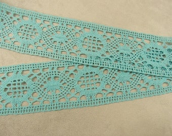 Turquoise blue lace - 5,5 cm - cotton