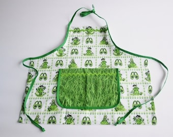 Child Apron Green
