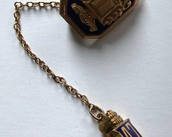 vintage 10k 1/10 gold filled graduation pin MSB 1947  Klein