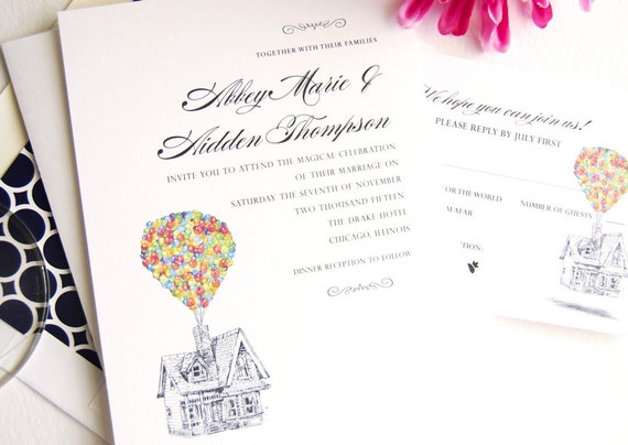 Up Themed Wedding Invitations guitarreviewsco