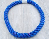 Blue Glitter Rope Necklace