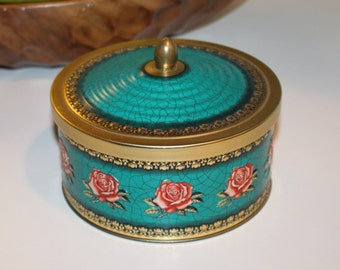 Vintage Blue Bird Confectionery Harry Vincent Limited Hunnington Round Tin with Lid from Worchestershire England