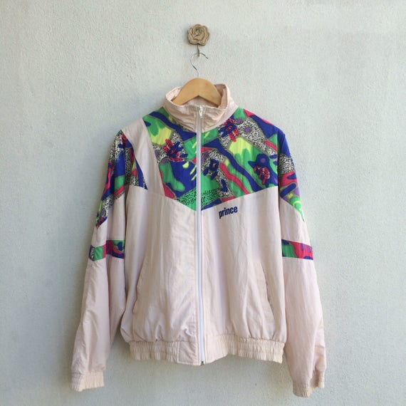 Vintage 90's Prince Zipper Jacket Embroidery Small Logo 324iDQ