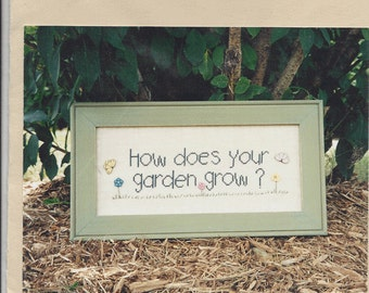 "Clearance - ""How Does Your Garden Grow""  Counted Cross Stitch Chart by Angel Stitchin"