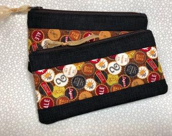 Beer bottle caps Grab & Go Cash Wallet 7 inch--