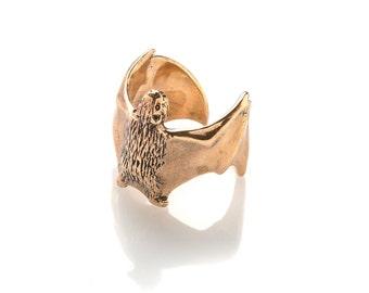 Bat Ring Bat Jewelry Bat Wing Ring  Vampire Jewelry Halloween Jewelry Bat Art Vampire Ring Goth Jewelry Gothic Jewelry  Brass Bronze ring