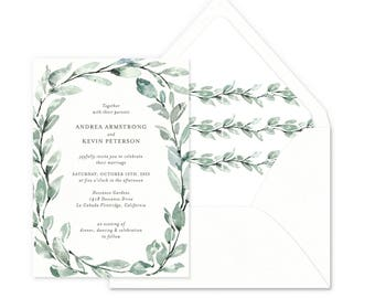 Delicate Willow Wedding Invitations