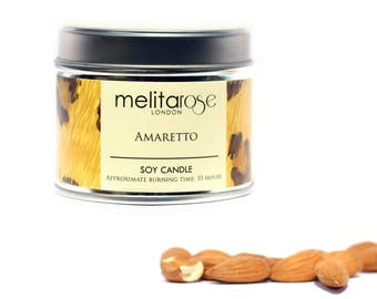 Amaretto Soy Scented Candle Tin