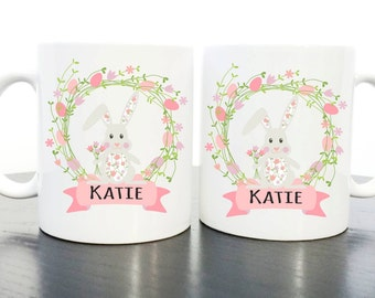 Personalised Children's Polymer Easter Bunny Mug