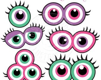 girl monster eyes etsy rh etsy com monster eyes clipart black and white monster eyes clipart black and white
