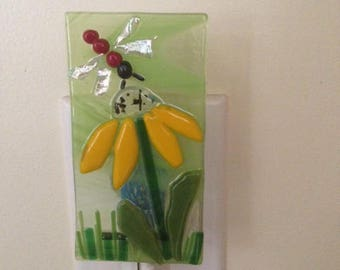 Nightlight with flower and Dragon fly