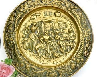 Decorative Brass Wall Plate Decor