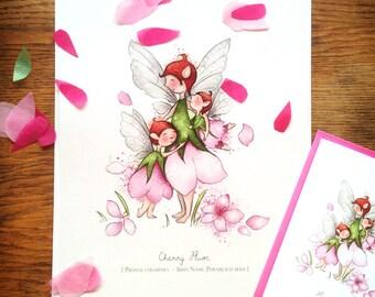 Mother (Cherry Plum) - Illustrated Art Print