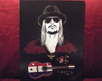 "KID ROCK is a Limited Edition  10""x13"" Print by artist Charles Freeman"