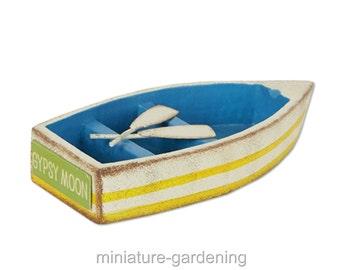 Row Boat for Miniature Garden, Fairy Garden