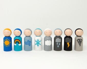 Waldorf Weather Gnomes Peg Doll Set