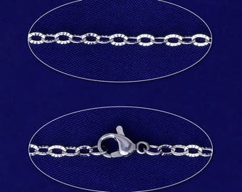 """0.35*0.3mm link Stainless Steel Necklace Chain with lobster clasp Jewelry Making Chain 20""""51mm 5pcs 10173103"""