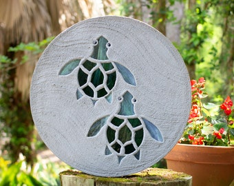 Baby Sea Turtles Hatchlings Stained Glass Stepping Stone #811