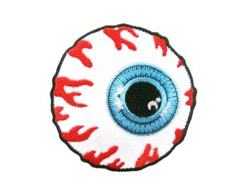 Eye Eyeball Embroidered Applique Iron on Patch 7.7 cm. x 7.8 cm.