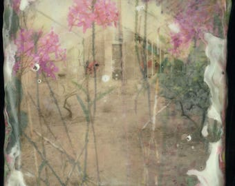 Greenhouse Study, Original Encaustic Painting