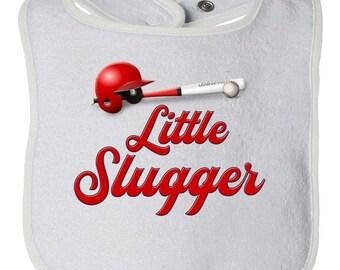 Little Slugger Baseball Baby Bib for Girls and Boys