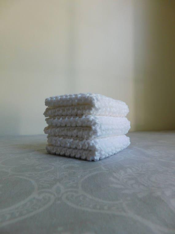 White Cotton Dishcloth Trio