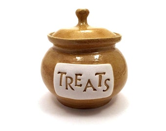 Rustic Pet Treat Jar; Gifts for Dogs, Biscuit Jar, Dog Gifts, Pet Gift, Dog Lover, Dog Treat Jar, Ceramic, Pottery, Pet Treat Jar, New Puppy