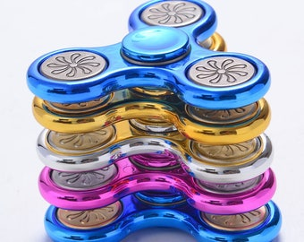 Hand Spinner Fidget metal - 3D rolling toy - Anti stress