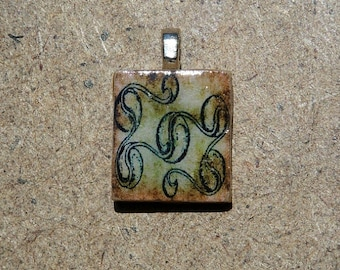 Scrabble pendant with gift box.