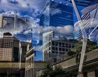 Multiple Exposure of Brisbane IV Print
